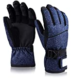 Thome Kinder Winterhandschuhe, Kinderhandschuhe -Wasserdicht Winddicht Warme Handschuhe zum Skifahren Radfahren - Elastische Fingerverdickung für Jungen und Mädchen- 8-10T