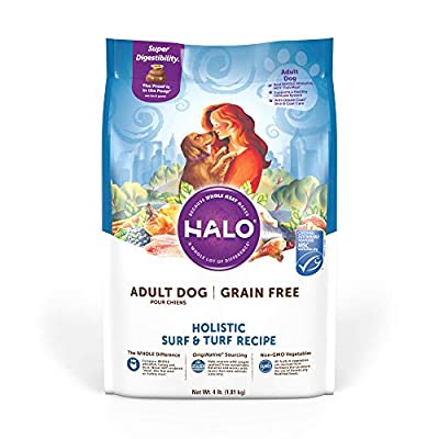 Halo Grain Free Natural Dry Dog Food, Surf & Turf Recipe