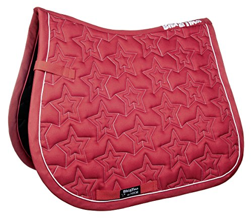 HKM Sports Equipment GmbH Schabracke -Bibi&Tina Star Sattel- & Zaumzeug, rot, Pony Dressur