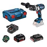Bosch Professional 18 V System Taladro Percutor a Batería GSB 18 V-110 C, par hasta 110 Nm, incl. Módulo de conectividad, batería de 1 x 5.0 Ah, batería de 1 x 3.0 Ah, en L-BOXX 136, Amazon Exclusive