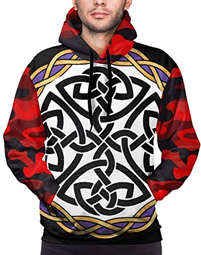 Rish Shield Warrior Celtic Cross Knot Soft Sweatshirt Funny Pullover Workout Hoodie Men Custom