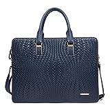 BOSTANTEN メンズ ビジネスバッグ ブリーフケース 編み柄 型押し B152333 (ブルー)
