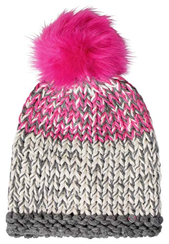 Cecil Damen 570933 Strickmütze, Mehrfarbig (Neon Active Pink 31749), One Size (Herstellergröße: A)