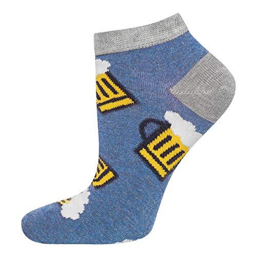 soxo Herren Bunte Bier Sneaker Socken | Größe 40 – 45 | aus baumwolle | lustige Geschenk für Frauen und Männer