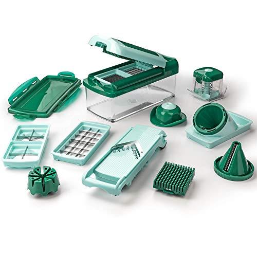 Genius Nicer Dicer Fusion Smart Julietti | Mint-Grün | 16 Teile | Alles-Schneider | Reiben | Julienne | Spiralen | Hobeln | Würfeln | Schneid-Gerät | Bekannt aus TV | NEU
