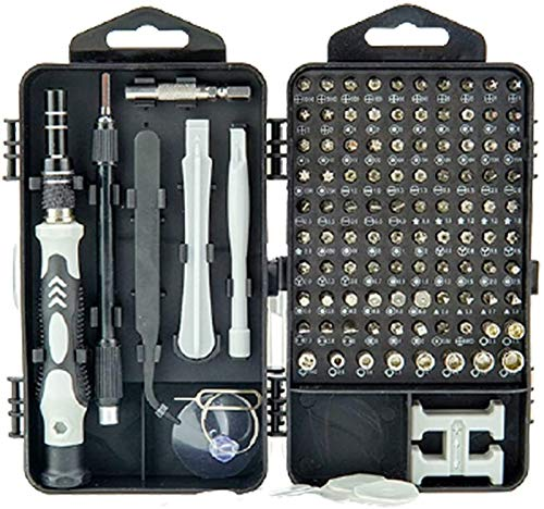 Tool Box Herramientas para reparar 115 en un conjunto de destornilladores combinados multifuncionales, cromo vanadio acero hardware para reloj teléfono móvil desmontaje herramienta reparación piezas
