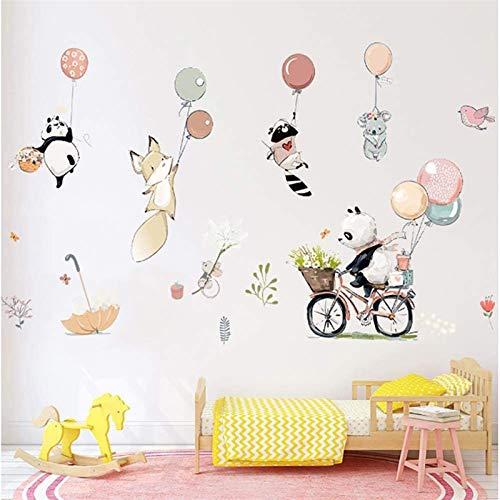 Moda Pegatinas de la calcomanía de la pared FOX Panda Bear Mouse Globo Etiquetas de la pared Sala de la sala Dormitorio Decorativo extraíble Pintura para el dormitorio Decoración de la fiesta de cumpl