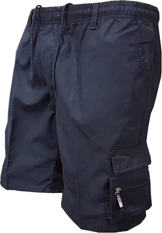 IFBUITE Mens Cargo Shorts, Tactical Workout Shorts Casual Elasti
