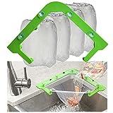 Triangle Tri-Holder Filter with 200 pcs Sink Strainer Bag,Corner Sink Strainer Basket,Sink Garbage Storage Rack Holder,Sink Filter Net,Mesh Bag for Kitchen Waste Leftover(200 bags + 1 holder)