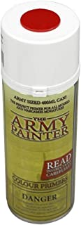 The Army Painter Color Primer, Dragon Red, 400ml, 13.5oz - Acrylic Spray Undercoat for Miniature Painting