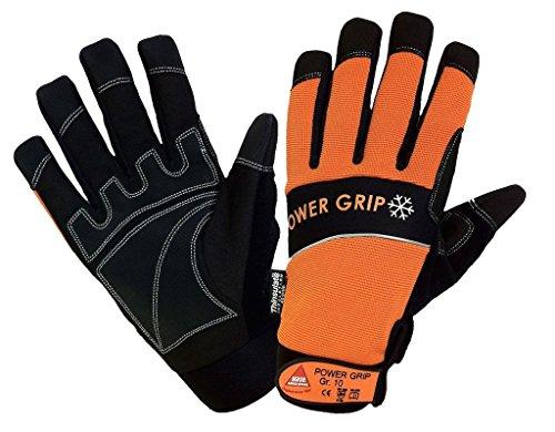 KERMEN.EU Winter-handschuh POWER GRIP Sicherheitshandschuhe schwarz/orange - Neoprene - Größe: 11