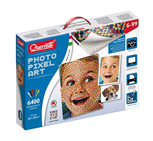 Quercetti Pixel Photo Create Your own Custom Portrait 4 peg Boards 6400 Pegs - 0804