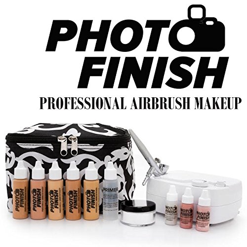 Photo Finish Professional Airbrush Cosmetic Makeup System Kit / Fair to Medium Shades 5pc Foundation...