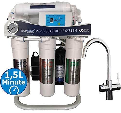PUR Smart 600 GPD 5 Stufen Umkehrosmoseanlage + 3-Wege Wasserhahn GAMMA