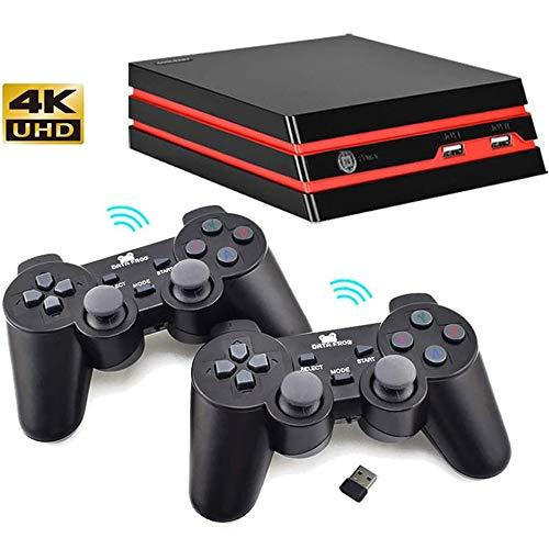 WXH Inicio Juego Retro De La Consola De 64 bits De Vídeo HD Juego Salida De La Consola 4K HDMI Incorporado De 600 Juegos Clásicos, FC Soporte/MAME/GBA/SMD/SNES/NES,Wireless