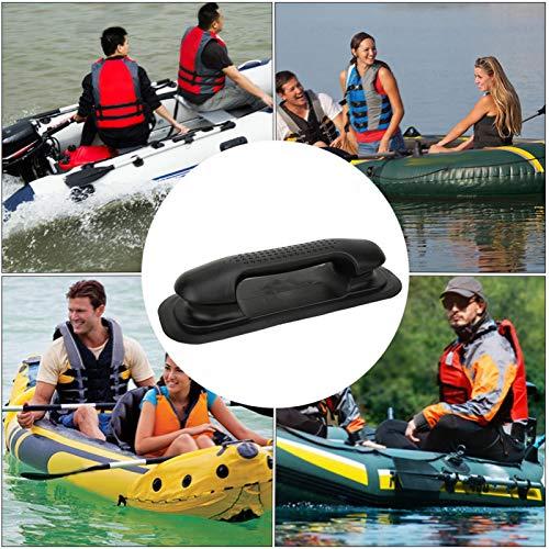 DAUERHAFT Pasamanos de Barco Ligero PVC de Primera Calidad Resistente para Barcos de Pesca, para canoas, Balsas de río fáciles de Instalar y Quitar