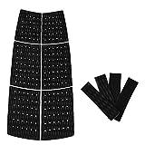 perfeclan 10Pcs / Set Sup Traction Pad (Negro) - Empuñadura De Cubierta De Tabla De Paleta Ranurada con Diamante - Fácil De Usar - Adhesivo Y Cómodo