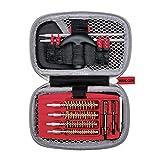 Real Avid Handgun Cleaning Kit: All in One 13 Piece Pistol Cleaning Kit With Cleaning Rod, Bore Brushes, Gun Cleaning Jags & Gun Cleaning Patches For .22 .357 9MM .38 .40 .44 & .45 Caliber Handguns