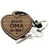 area17 Lieblingsmensch Schlüsselanhänger aus Holz - Modell: Beste Oma