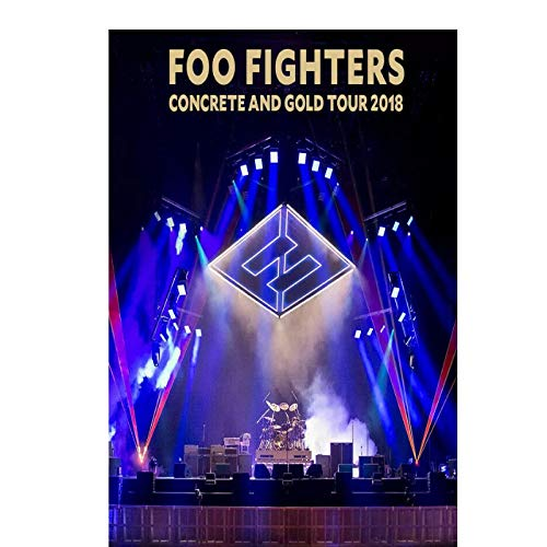 HJSF Foo Fighters Concrete and Gold 2018 Concert Tour Live Painting Posters Prints Canvas Wall Picture for Room Decor 60x80cm unframed