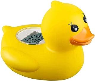 Termómetro de baño para bebé, termómetro digital de agua para baño seguro con alarma LED cálida, función de reloj y tempor...