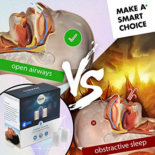 Venyn Set of 4 Nose Vents to Ease Breathing - Anti Snoring - No Side Effects - Advanced Design - Reusable - Includes Travel Case