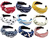 Qiabao 5 Pack Assorted Wide Knot Headband Hair Band for Women Girls
