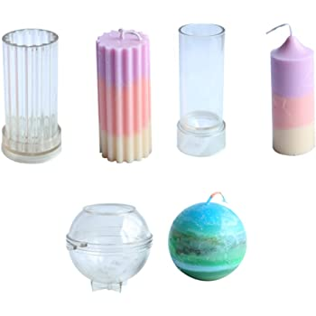 Creation Core 10pcs Candle Molds Set Plastic Candle Making Kit Pillar DIY Candle Making Supplies Pyramid /& Cylinder /& Ball Sphere /& Pillar /& Apple /& Square /& 2 Cones /& Taper Mold