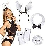 Conejo de Pascua vestido de lujo atractivo Instant Kit - incluye cuello, los puños, los oídos y la cola