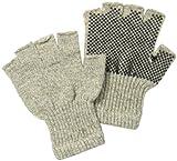 Fox River Fingerless Gripper Glove, Medium, Brown Tweed