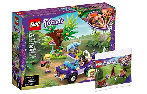 Collectix Lego Friends - Set: 41421 Rettung des Elefantenbabys mit Transporter + 30412 Picknick im Park (Polybag)