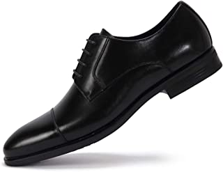 Cap-Toe Oxford Dress Shoes for Men Genuine Leather Formal Shoes for Men Business Casual