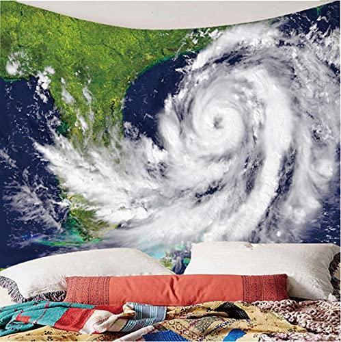 Weibing Tapiz de impresión en Color 3D Estilo Moderno Tornado meteorológico patrón Creativo decoración del hogar tapices Arte de Pared para Habitaciones 300(An) x260(H) cm