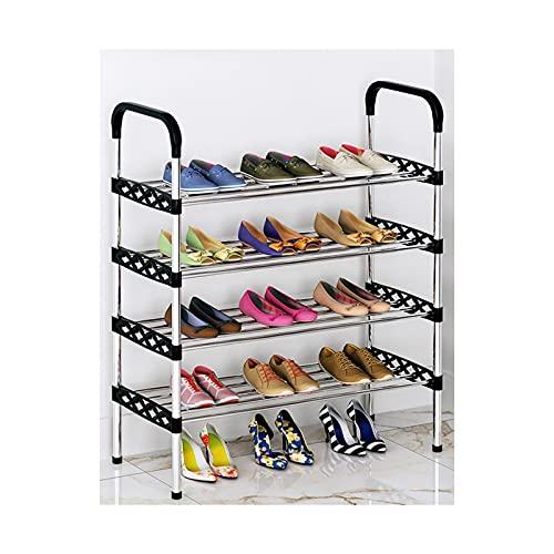 HYAN Zapatero Equipo de Zapato de múltiples Capas Económico Persalte Libre de Zapatos Estante de Zapatos Gabinete Organizador para la Puerta de Entrada Caja de Zapatos (tamaño : 4 Layers (82cm))