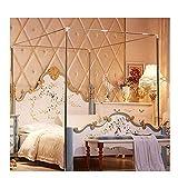 YOGANHJAT Support moustiquaire, Moustiquaire Cadre de lit pour lit 4 Coins Moustiquaire Rideau Twin Argenté pour lit Double/Double XL/Full/Queen/King/California King Size,16mm,1×2m Bed