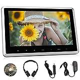 NAVISKAUTO 10.1' Car DVD Player with Wireless Headphone Support HDMI Input,...