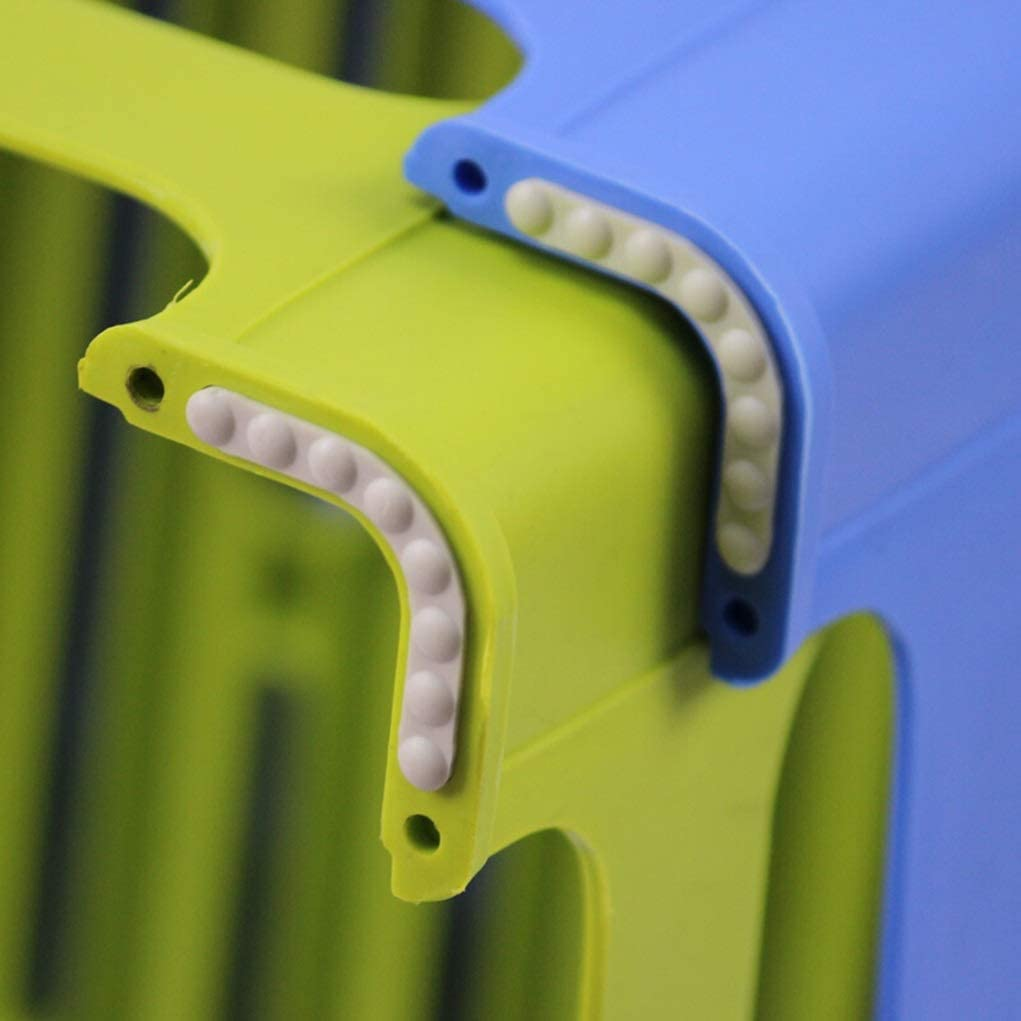 ZW_W Chaise de Salle à Manger Tabouret en Plastique, Type épaississant, Banc de Chaussure Simple (Color : Blue) Green