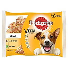 Pedigree Pouch Chicken & Lamb Selection in Jelly Adult Dog Food, 100g x 4