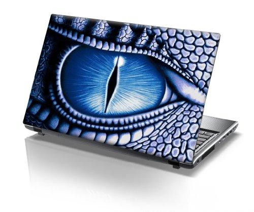 TaylorHe Folie Sticker Skin Vinyl Aufkleber mit bunten Mustern für 15 Zoll 15,6 Zoll (38cm x 25,5cm) Laptop Skin Drachen Auge, Blau