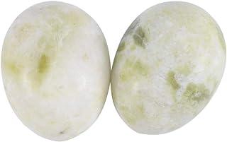 Healifty 6PCS翡翠Yoni卵マッサージ癒しの石ケル運動骨盤底筋運動(ランティアジェイド)