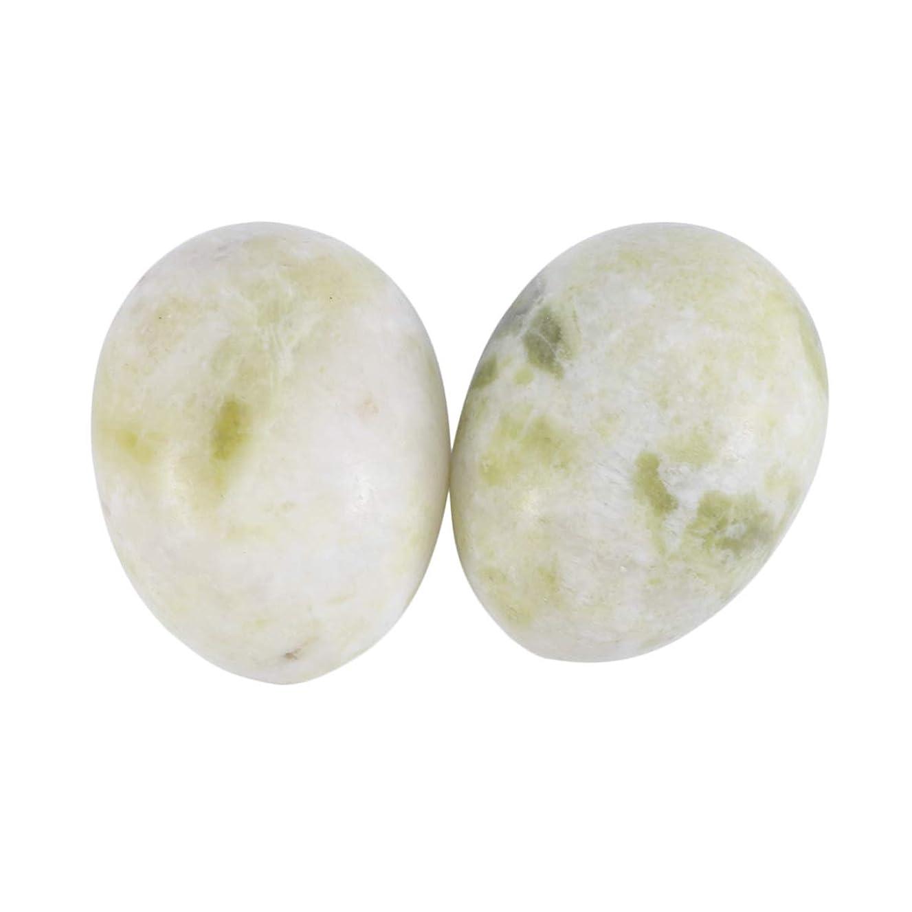 SUPVOX 6本ネフライトジェイドヨニエッグジェイドヨニマッサージストーンチャクラ骨盤筋肉癒しの卵マッサージケゲルエクササイズ(Lantian Jade Egg)