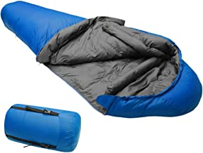 Info Compression Sack Adult Duck Down Ultralight Mummy Sleeping Bag Perfect for Camping, Hiking, and Backpacking, 41F/5C 3-4 Season Warm and Comfortal,with 300G Filling,83