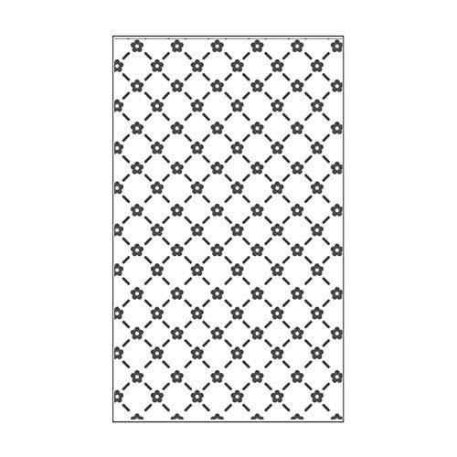 Vaessen Creative Mini Taschina per Embossing, Traliccio con Fiori, per Aggiungere Texture e Dimensione a Pagine di Scrapbooking, Biglietti e Altri Progetti Creativi con la Carta, 7,6 x 12,7 cm