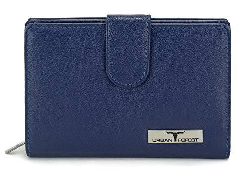 Urban Forest Tina Blue Womens Leather Wallet