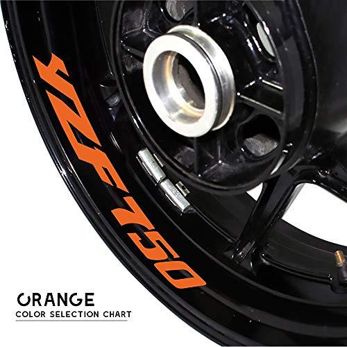 PUXINGPING- Logotipo de la Rueda de la Motocicleta Pegatina Reflectante llanta del neumático Accesorios Etiquetas Decorativas for Yamaha YZF750 (Color : Orange)