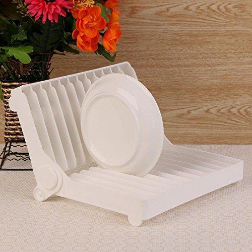Blanc – pliable multifonction de cuisine en plastique avec plaque séchage Égouttoir à couverts organiseur pour évier Hygiène pour rangement sec – Blanc