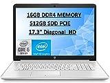 HP 2020 Pavilion 17.3' FHD IPS High Performance Laptop Computer, 10th Gen Intel Core i5-10210u, 16GB RAM, 512GB SSD, Intel UHD Graphics, HD Audio, HD Webcam, Win10 with E.S Holiday32GB USB Card