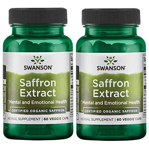 Swanson Saffron Extract 2 Safranal 30 Milligrams 60 Veg Capsules