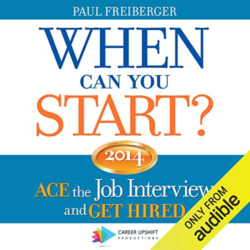 When Can You Start? 2014 audiobook cover art