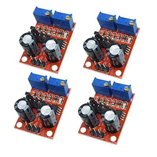 NE555 Pulse Frequency Square Wave Rectangular Signal Generator Adjustable Module Stepper Motor Driver Module Compatible para Arduino Uno Robot Smart Car 4pcs